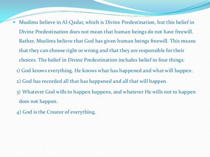 Belief in al qadar Slide 2