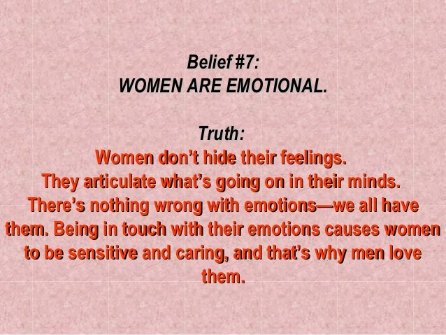 women and feelings