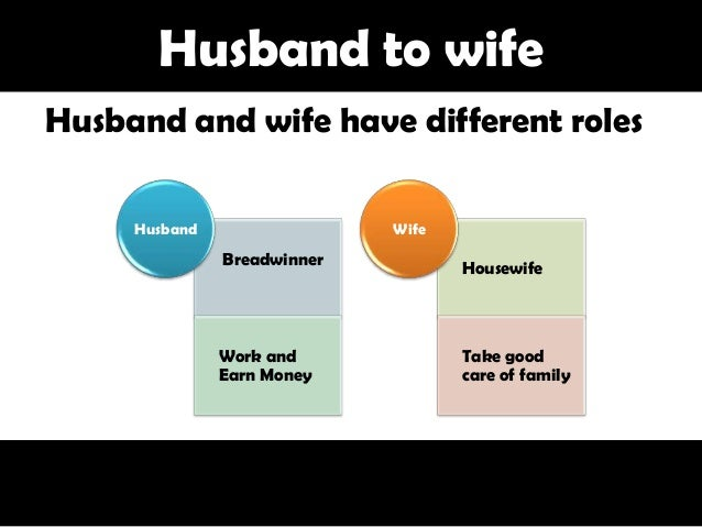 Roles of husband and wife