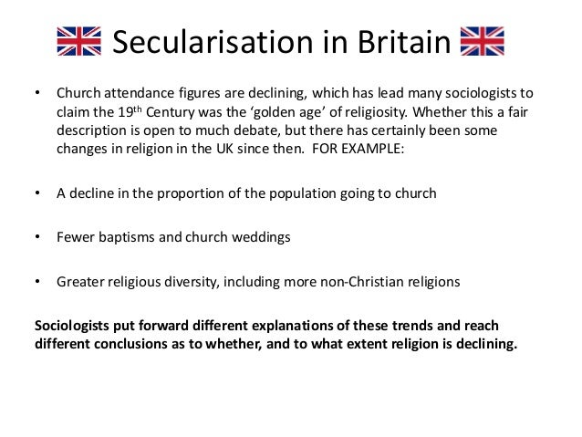 secularization thesis religion Secularisation thesis secularization: this definition is not limited to the partial definition, but exceeds it to the separation between all (religion, moral, and human) values, and (not just the state) but also to (the human nature in its public and private sides), so that the holiness is removed from the world, and this world is transformed into a usable matter that can be employed for the.