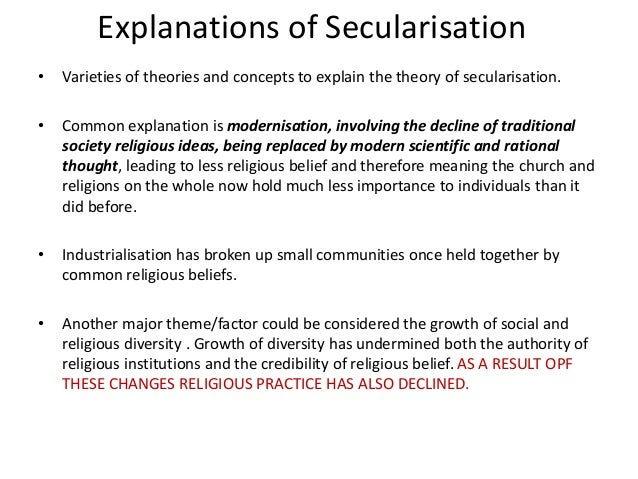 A2 sociology secularisation essay outline