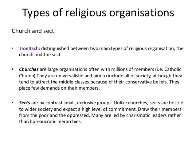 the sociology of religious organizations essay [27] this often takes place in what sociologists refer to as  'a religious cult is a  religious group whose leader formulates the group's dogma.