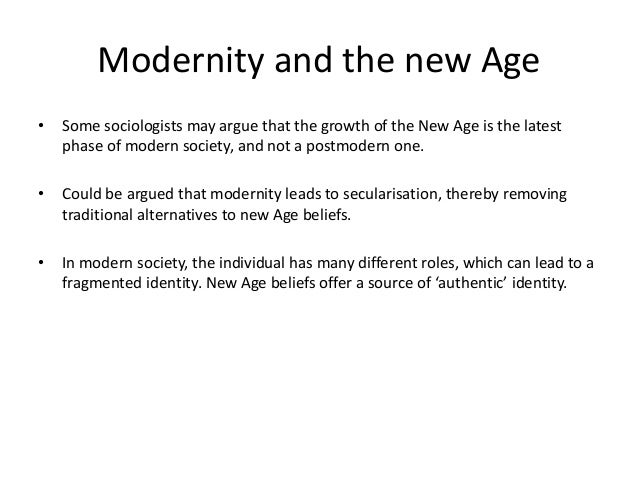Unit 3 sociology beliefs in society for Modernite definition