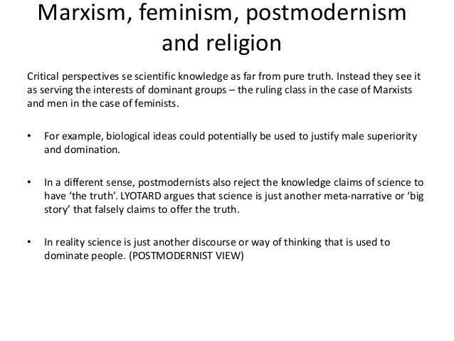 unit sociology beliefs in society 82 marxism feminism postmodernism and religion