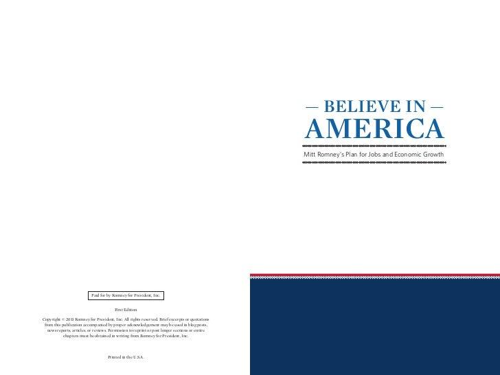 — BELIEVE IN —                                                                                                 AMERICA    ...
