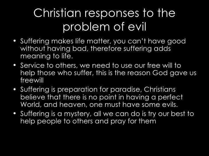 problem of evil and god The evil god challenge is a  rebutting andrews's characterization of evil as presented in his a response to the problem of an 'evil god' as raised by.
