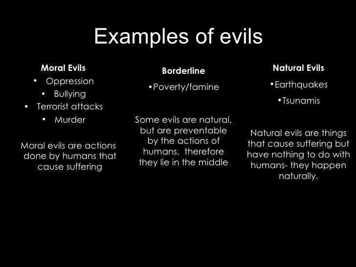 evil from morals Amazoncom: evil and moral psychology (routledge studies in ethics and moral theory) (9781138890848): peter brian barry: books.