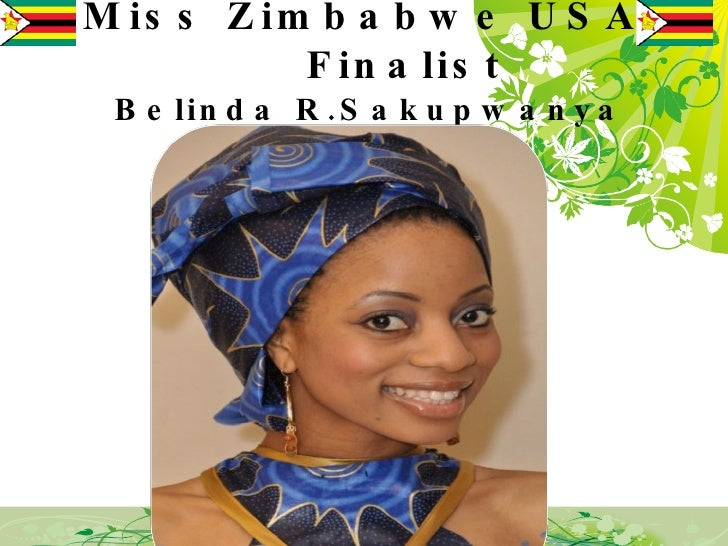 Miss Zimbabwe USA    Finalist Belinda R.Sakupwanya