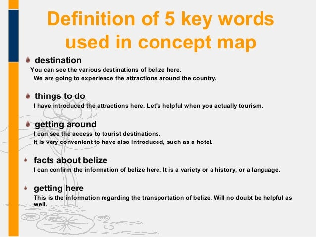 map key definition vproject