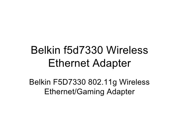 BELKIN WIRELESS F5D7330 DRIVER FOR WINDOWS 8