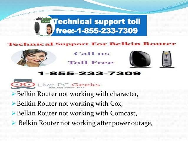 Belkin router customer service 1-855-233-7309 California Belkin route…