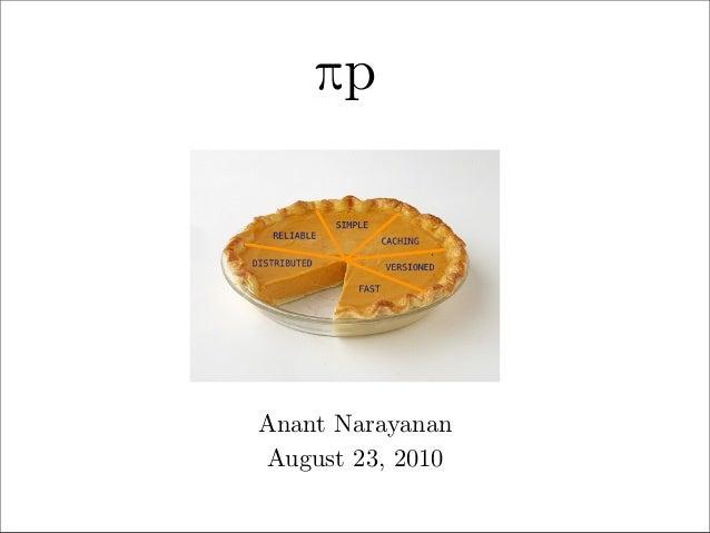 πp  Anant Narayanan August 23, 2010