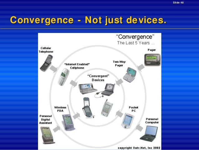 Slide 48  Convergence - Not just devices.