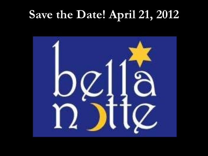 Save the Date! April 21, 2012