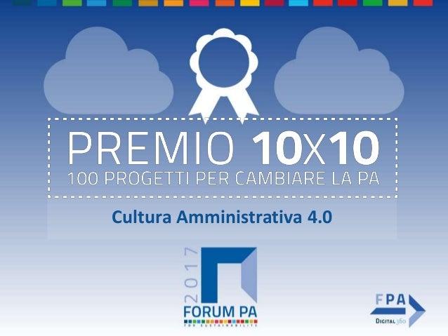Cultura Amministrativa 4.0
