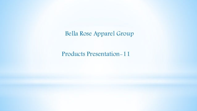 Bella Rose Apparel Group Products Presentation-11