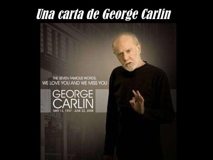 Una carta de George Carlin
