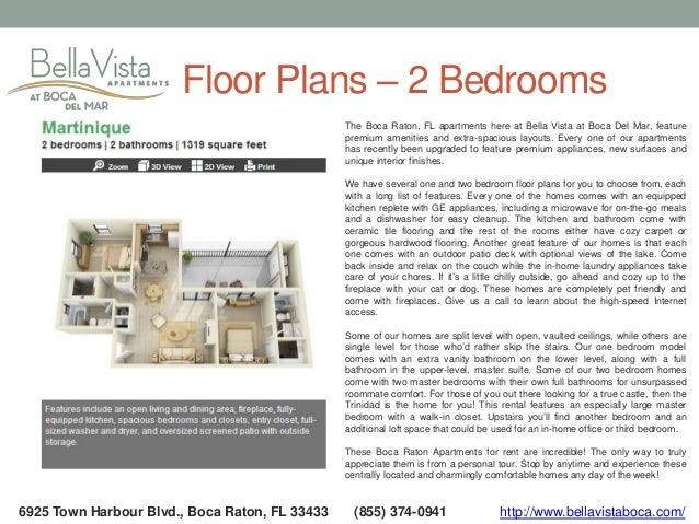 6  6925 Town Harbour Blvd   Boca Raton  FL. Bella Vista Apartments   Boca Raton FL