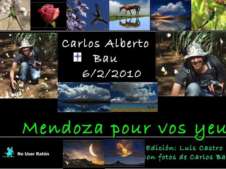 Carlos Alberto Bau 6/2/2010 En su memoria No Usar Ratón Edición: Luis Castro  Con fotos de Carlos Bau Mendoza pour vos yeux