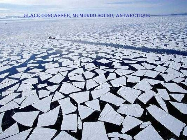 Glace concassée, McMurdo Sound, Antarctique