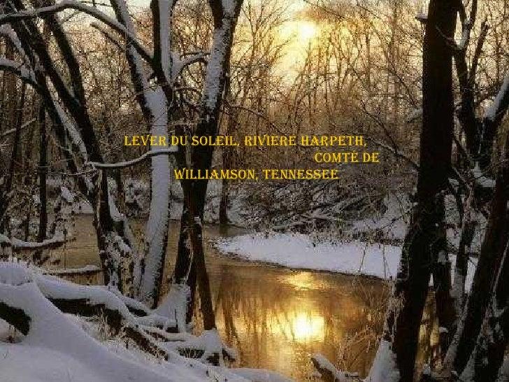 Lever du soleil, Rivière Harpeth,  Comté de Williamson, Tennessee