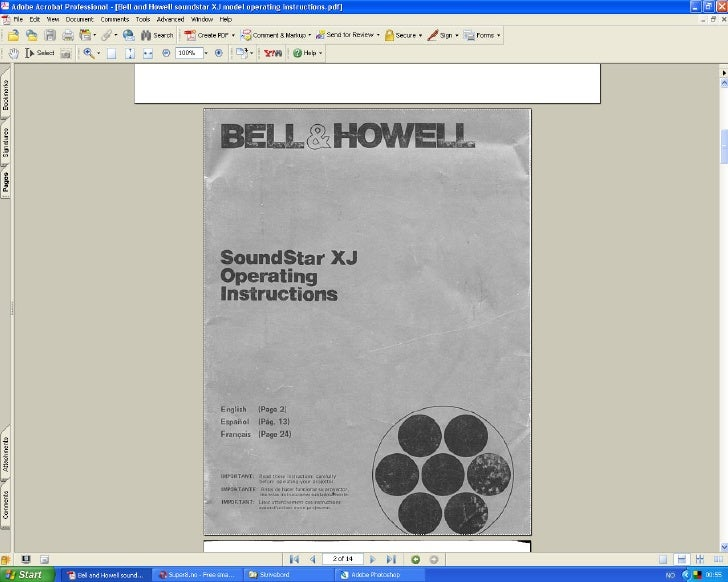 Bell & howell sound star xj_super 8 movie projector_user manual_english french spanish