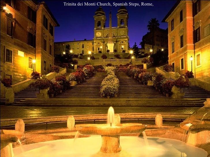 Trinita dei Monti Church, Spanish Steps, Rome,