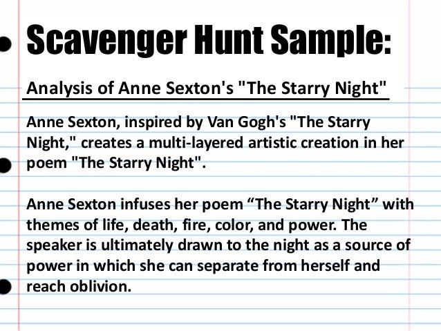 An analysis of themes in anne sextons poem her kind