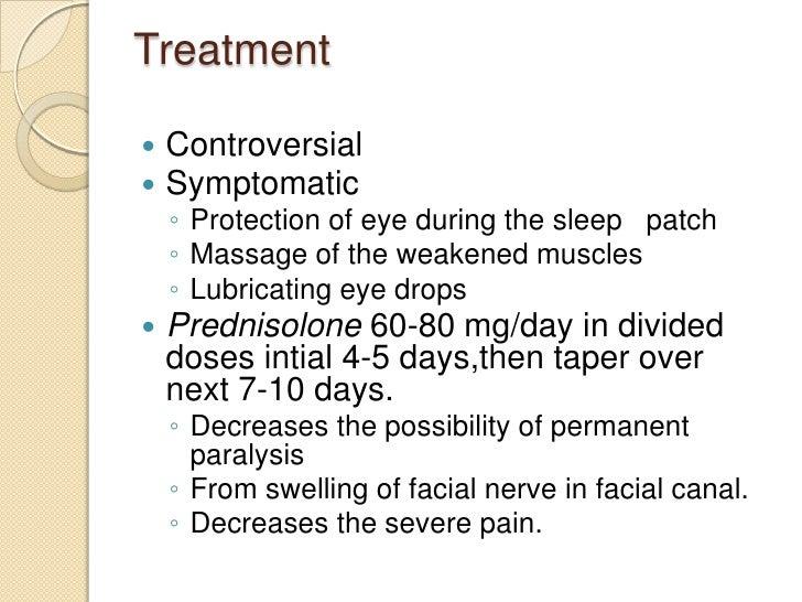 Edema facial paralysis hyperacusis