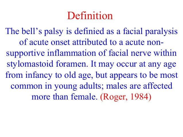 facial palsy definition