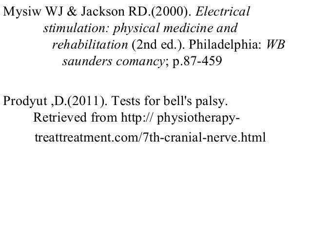 Emedicine Facial Nerve Palsy