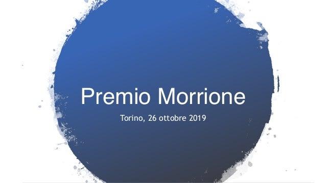 Premio Morrione Torino, 26 ottobre 2019