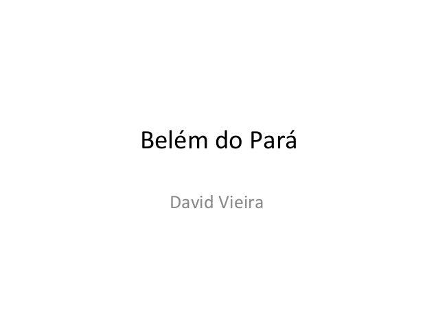 Belém do Pará David Vieira