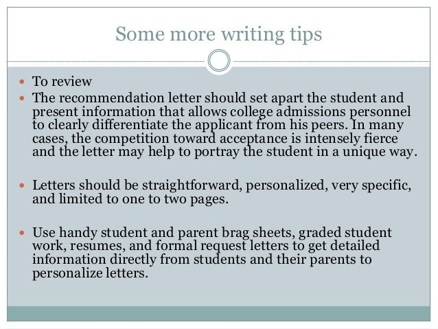 Tips for writing powerful teacher and counselor letters of recommenda 7 some more writing tips to review the recommendation letter negle Choice Image