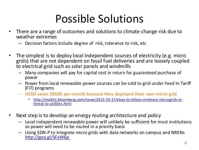 University Climate Change Preparedness