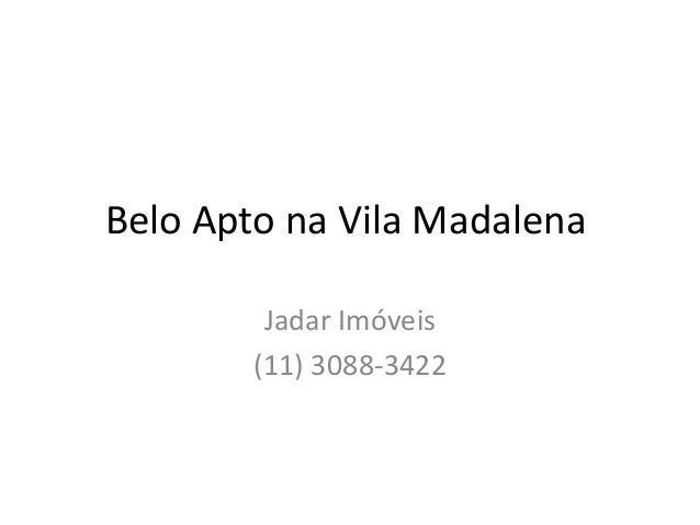Belo Apto na Vila Madalena Jadar Imóveis (11) 3088-3422