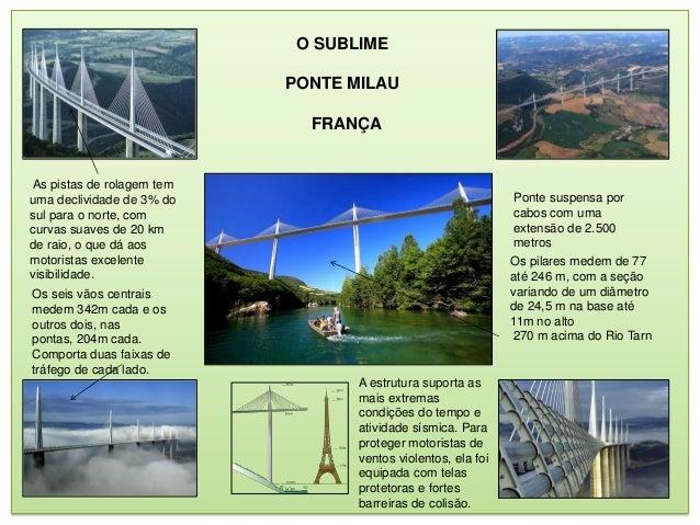 O SUBLIME                           PONTE MILAU                             FRANÇAAs pistas de rolagem temuma declividade ...