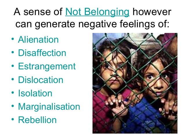 belonging culture and sense Culture and belonging : the importance of belonging source: cnn a sense of belonging this entry was posted in culture and belonging and tagged culture.