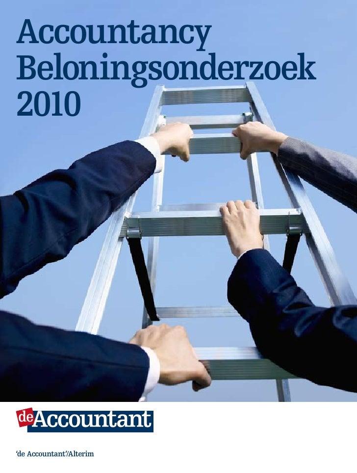 Accountancy Beloningsonderzoek 2010     de    Maandblad van het koninklijk nivra     'de Accountant'/Alterim