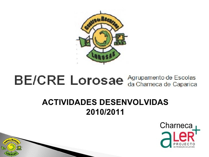 ACTIVIDADES DESENVOLVIDAS 2010/2011
