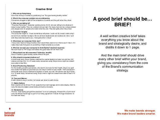 writing a good creative brief Writing a web design brief that is genuinely useful is extremely hard in this post andy wickes takes you through the process to ensure your web designer is.