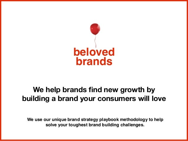 We help brands find new growth by building a brand your consumers will love beloved brands We use our unique brand strategy...