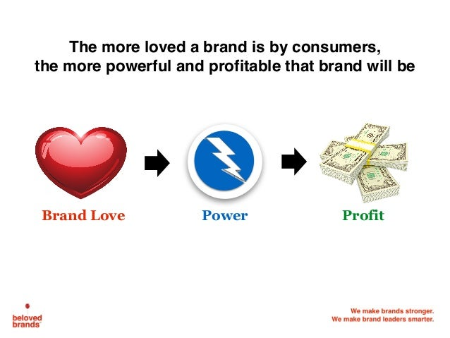 The more loved a brand is by consumers, the more powerful and profitable that brand will be Brand Love ProfitPower