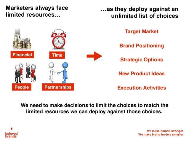 We make brands stronger. We make brand leaders smarter. Marketers always face limited resources… Target Market Brand Posit...