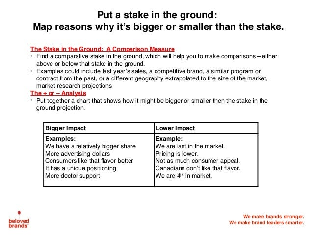 We make brands stronger. We make brand leaders smarter. The Stake in the Ground: A Comparison Measure • Find a comparative...