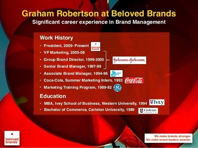 We make brands stronger. We make brand leaders smarter. Graham Robertson at Beloved Brands Significant career experience i...