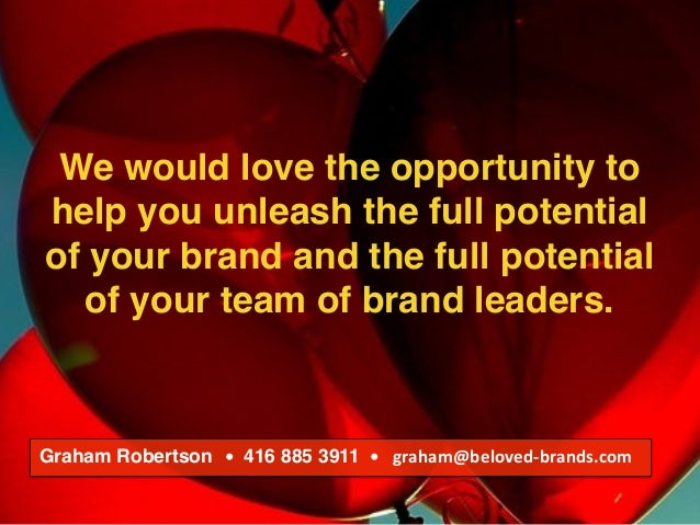 We make brands stronger. We make brand leaders smarter. We would love the opportunity to help you unleash the full potenti...