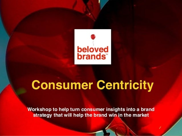 Workshop to help turn consumer insights into a brand strategy that will help the brand win in the market Consumer Centrici...