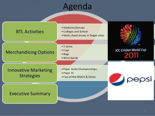 Below The Line (BTL) promotional activities for Pepsi ...