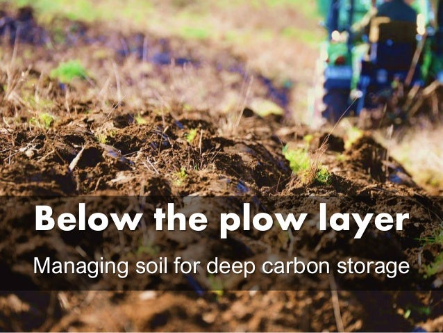 Below the plow layer Managing soil for deep carbon storage